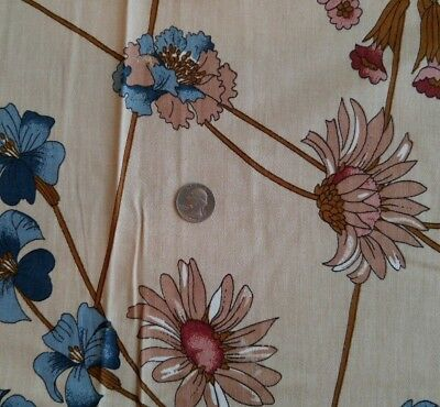 "2 Pcs Anra Decorator Fabric APRIL Floral by Neil Eric Levi 55""W x 2¾ Yards Each"