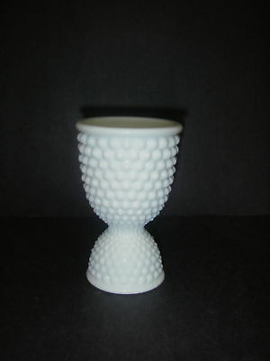 """Westmoreland Glass AMERICAN HOBNAIL Milk White Double Egg Cup 4½""""  high."""