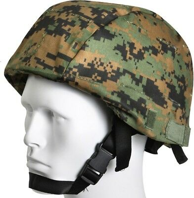 Woodland Digital Camouflage Tactical MARPAT MICH Helmet Cover