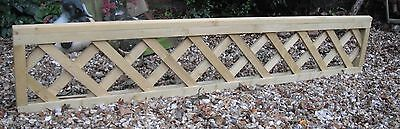 Heavy Duty Wooden Trellis Panels 6 x 1 Green Treated