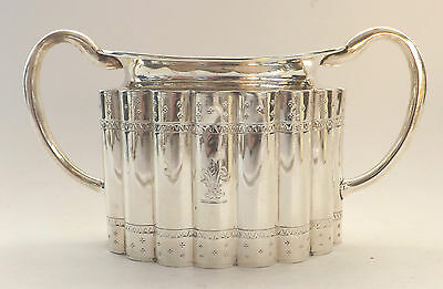 Bowl 9.9ozs  282g Solid Sterling Silver GOOD Gold Gilt Samuel Whitford 1865