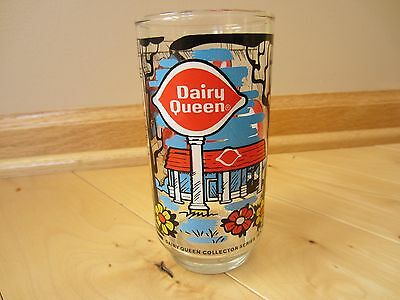Vintage Dairy Queen Drinking Glass Collector Series 1976 DQ Excellent Condition
