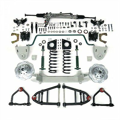 1964-1970 Ford Mustang Complete Front End Suspension Kit IFS Mustang II Manual
