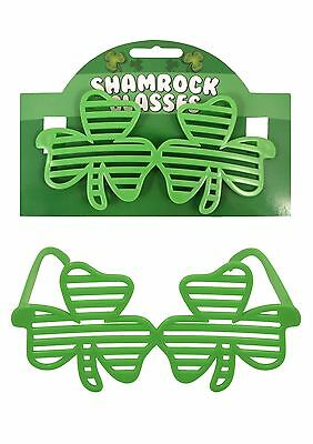 Brand New Irish Shutter Shamrock Glasses St Patricks Day Party Event Novelty
