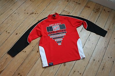 NHL Detroit Red Wings Ice Roller hockey jersey shirt M high neck USA Blueline