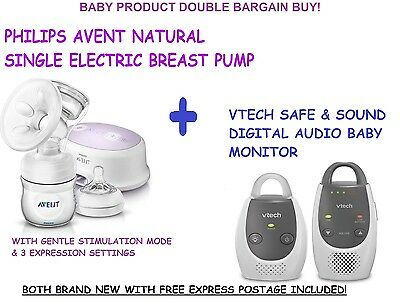 ⭐Brand New⭐ Philips Electric Breast Pump & Vtech Safe N Sound Audio Baby Monitor