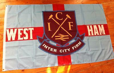 West Ham United Icf Inter City Firm 3 X 5Ft Flag Casuals Utras East End