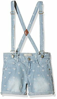 Name It - NITSOLBES K REG DNM SHORTS W BRA 216, Shorts Bambina, Blau (Light Blue