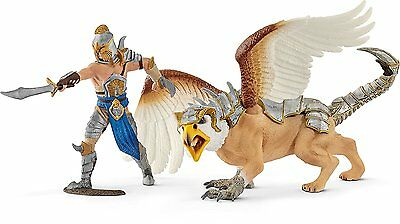Schleich - Griffin Knight Warrior with Griffin Action Figure 70129 NEW