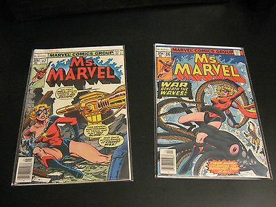 Lot of *2* Key MS. MARVEL Comics: #16, #17 1st & 2nd Mystiques! (FN++/VF- -)