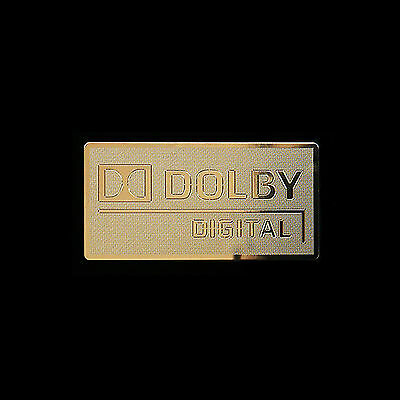 Dolby digital logo Metal Decal Sticker Case Computer PC Laptop Badge (G)