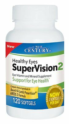 21st Century Healthy Eyes Supervision 2 Softgels 120ct (Compare to AREDS 2)