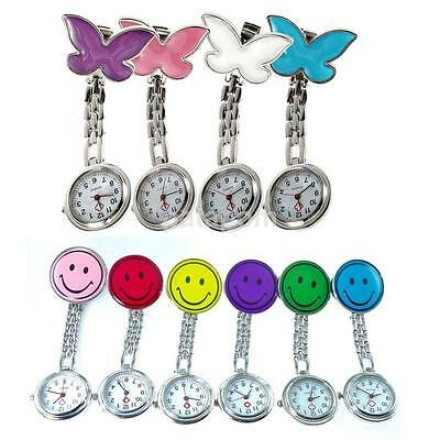 Funny Nurse Clip-on Fob Brooch Pendant Fobwatch Watch Smile Face Children Day