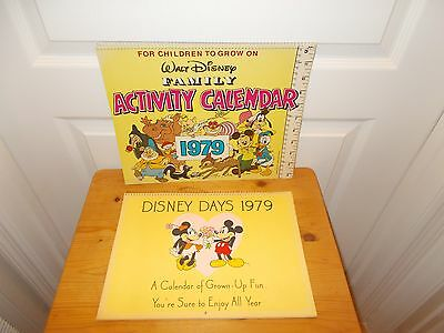 Pair of Vintage DISNEY Calendars from 1979---Great Graphics!!!!