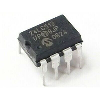 Microchip 24LC512 I2C Interface EEPROM 64K x 8