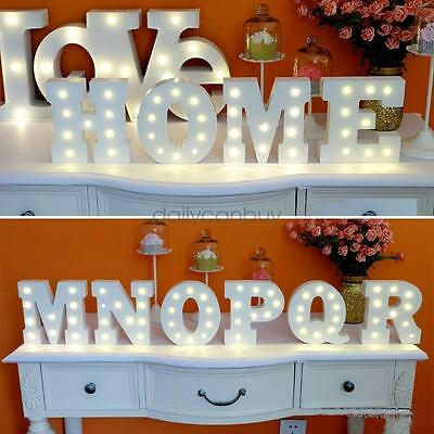 Wooden 26 Letters LED Night Light Festival Lights Party Lamp Wall Hanging AU