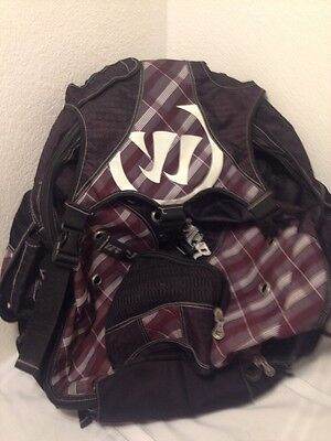 """Large Warrior Lacrosse Gear Backpack Plaid And Black 24"""" X 16"""""""