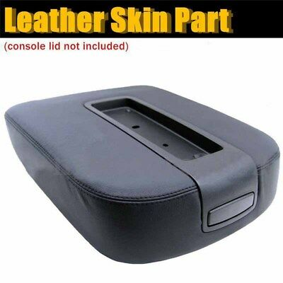 US Black Car Center Console Lid Armrest Cover Leather For Chevy Tahoe GMC Sierra