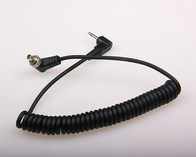 2.5mm to Male FLASH PC Sync Cable Cord with Screw Lock for Trigger Transmitter