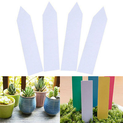 """100Pcs 4"""" Garden Plant Pot Markers Plastic Stake Tags Nursery Seed Labels Decor"""