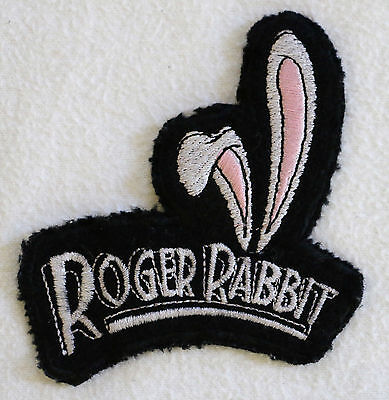 Vintage Disney Roger Rabbit Ears Embroidered Cloth Sew On Patch - NEW