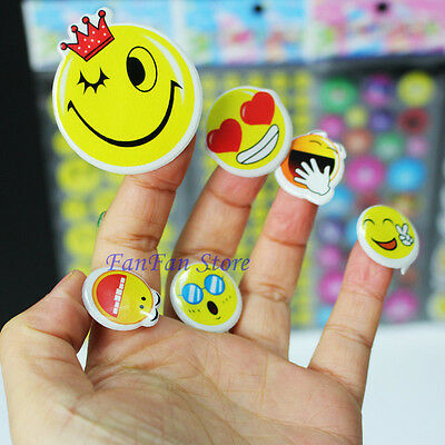 Cartoon Smile Pattern Teacher Reward Desk Paper Label Stickers