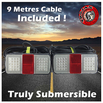 Trojan Submersible Led Trailer Tail Lights Combination Rear Lights With Cable