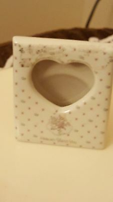 Precious Moments Heaven Bless You Heart Picture Frame Baby Shower Gift 1987