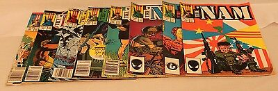 THE 'NAM  Marvel Comics (1987 - 1989)  Lot of 8 - Not a Run  Very Good Condition