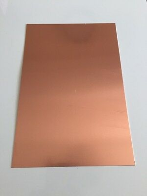Copper sheet metal plates CU 300 x 250mm 0.55 thickness FREE POSTAGE!