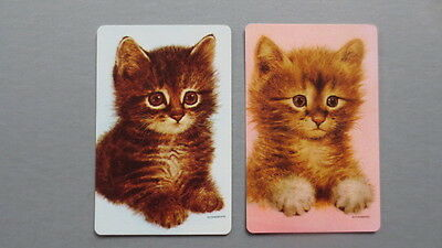 Set of 2 Single Swap/Playing Cards - Vintage Lovely Sitting Cats