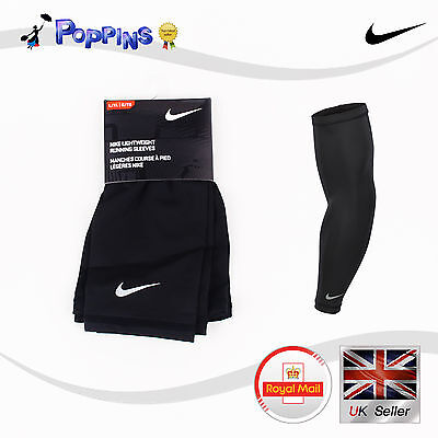 NEW Nike Lightweight Running Sleeves Black NRS66011LX SIZE L / XL