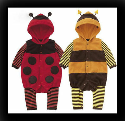 Baby Boy Girl LADYBIRD BEE Carnival Costume Fancy Dress Outfit 3 6 12 18 24m