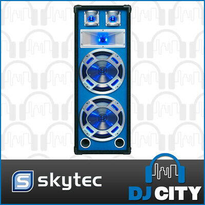 "Skytec PLB208 2x8"" Party Speaker 600W Passive with Built-in Sound Active LEDs"