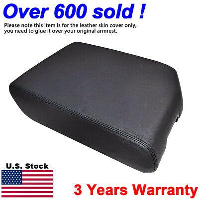 Leather Armrest Center Console Lid Cover Fits Toyota Tundra 2007-2013 Black