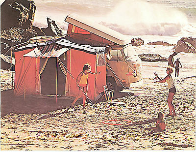 1972 Canadian Issue VW Volkswagen Campmobile Sales Brochure Mint - 8 Pages