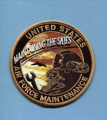 MAINTAINING THE SKIES USAF Squadron US AIR FORCE Maintenance Jacket Patch