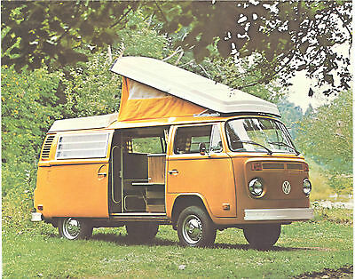 1973 Canadian Issue VW Volkswagen Campmobile 1 Page Sales Pamphlet Mint Original