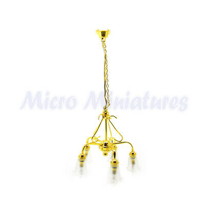 5 Down Arm Chandelier with Frosted Tulip Shades (00700)