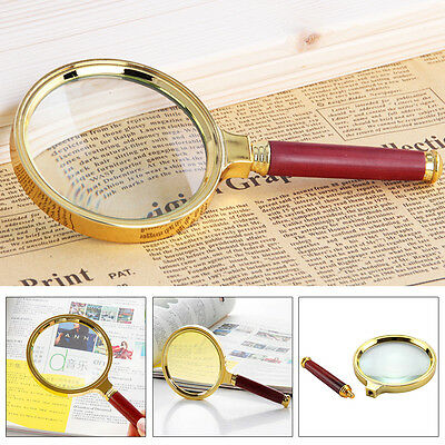 90mm Handheld 10X Magnifier Magnifying Glass Loupe Reading Jewelry Aid Big Large