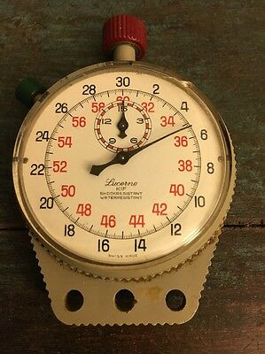 Vintage Lucerne Stopwatch, Working Vintage Stopwatch