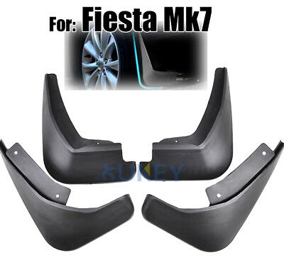 A Set Mud Flap Front & Rear Fit For Ford Ford Fiesta 2009-On Mk7 Splash Guards