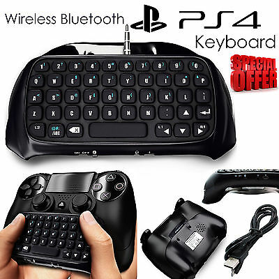 PlayStation for PS4 Wireless Bluetooth Keyboard Chatpad Controller GamePad Black