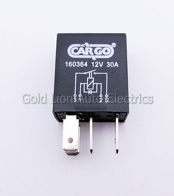 160364 | 12V 4 Pin Terminal Compact Micro Mini Make & Break Relay 30A With Diode