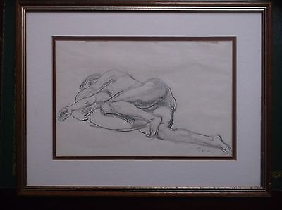 FRAMED GRAPHITE DRAWING by GRACE GOLDEN A STUDY OF A LAYING DOWN NUDE