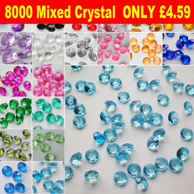1000 Scatter Table Crystals Diamonds Confetti WEDDING DECORATION FAVOR Party