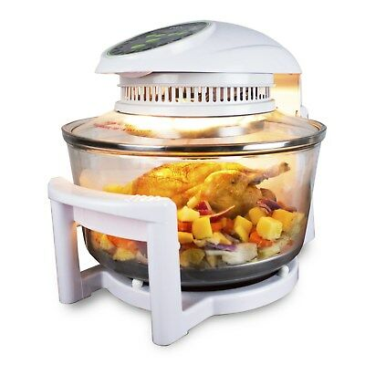 17 Litre Premium Digital Halogen Convection Oven Cooker with Hinged Lid