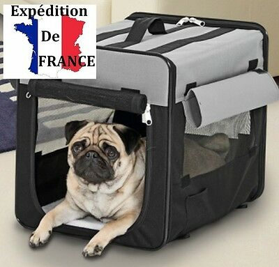 Cage de transport pliable 64 x 46 x 53 cm