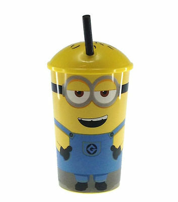 Minions KIDS Plastic Soda Drink Cup with Straw Travel Tumbler - FREE SHIPPING