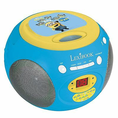 MINIONS DESPICABLE ME KIDS CD PLAYER FM Radio - Lexibook - NEW - OFFICIAL